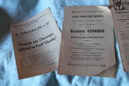 Lot De Trois Documents Sur La Chasse - Chasse/Pêche