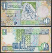 Libye - LIBYA 1 DINAR 2002 P-64 XF++ Crisp Note - Same Note Same Serial - Libya
