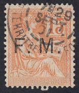 FRANCE Francia Frankreich - 1901 - Yvert Franchigia 1, Usato, 15 Cent., Arancio. - Franchise Militaire (timbres)