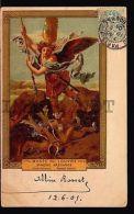 1906 Original Postcard FRANCE St Michel Angel MAXIMUM CARD MAXI Lithography - Unclassified