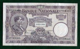 Belgique  100 Fr  Du  10/03/1926 - [ 2] 1831-... : Royaume De Belgique