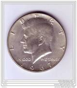 United-States, 1967, Kennedy, Aigle, Argent, Eagle, Silver, - EDICIONES FEDERALES