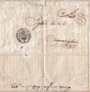 Le Conseil D'Etat Du Canton De Vaud(CH) Affiché 14 Mai 1837 / Au Syndic Commune Ormont Dessous - Affiches