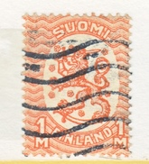 FINLAND  102  Perf  14 1/4 X 14 3/4  (o)  No Wmk.  1917-30  Issue - Finland
