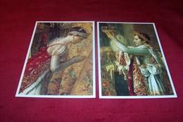LOT DE 2 CARTES  LE SACRE DE NAPOLEON 1er 1806 : 1807  ))) Louis David 1748 1825 - Paintings