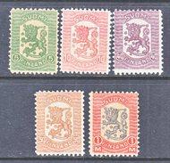FINLAND  111 +   *  No Wmk.  1918  Issue - Unused Stamps