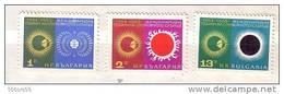 1965 International Quiet Sun Year   3v.- MNH  Bulgaria / Bulgarie - Unused Stamps