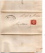 1876 LETTERA CON ANNULLO NAPOLI DENTELLATURA SPOSTATA - 1861-78 Vittorio Emanuele II