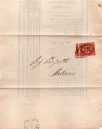 1875  LETTERA CON ANNULLO GENOVA + SALERNO - Servizi