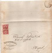 1875  LETTERA CON ANNULLO NAPOLI - 1861-78 Vittorio Emanuele II