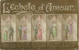 L'ECHELLE D' AMOUR - LE POILU SUR L' ECHELLE D' AMOUR - CPA - édit; A.H.KATZ - N° 2646. - War 1914-18
