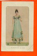 Mode - Femme - L'élégance En 1815 (écrite Au Dos) - Mode