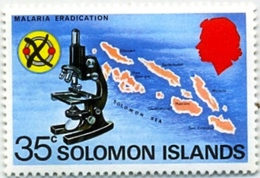 HEALTH-DISEASE-MALARIA ERADICATION-MICROSCOPE-SOLOMON ISLANDS-MNH-H1-86 - Krankheiten