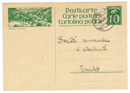 Suisse // Schweiz // Switzerland //  Entier Postaux 1925-1927  No.107 // Seewis I., Prättigau - Entiers Postaux