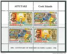 Aitutaki 1996. Michel #749/50 MNH/Luxe. Summer OG, Atlanta-1996. (Ts10)