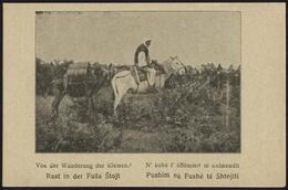 """[000] Albania / Shqipëri, """"Wanderung Der Klemend - Rast In Der Fusa Stojt"""", ~1915 (74) - Albanien"""
