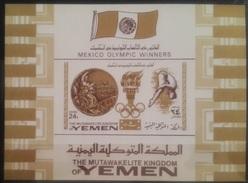 V25 - The Mutawakelite Kingdom Of Yemen 1968 Mi. Block 142B MNH S/S - Olympic Winners Mexico Games - Yemen