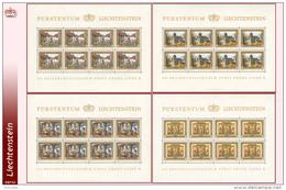 Liechtenstein 0647/50** MNH - Anniversaire Du Regne - Mini Sheet De 8 -Zumstein 644/47 - Blocs & Feuillets