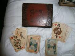 2 ANCIENS JEUX DE CARTES   AVEC BOITE BOIS  MARQUE FERD PIATNIK & SOHNE VIEN  COMPLET - Juegos De Sociedad