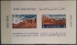 V25 - Yemen Arab Republic 1964 Mi. Block 30 MNH S/S - Inauguration Of Sanaa International Airport - Yemen