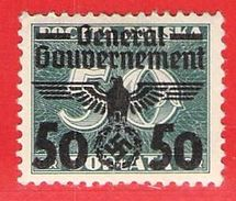 MiNr. 38x  Deutschland Besetzungsausgaben II. Weltkrieg Generalgouvernement - Besetzungen 1938-45