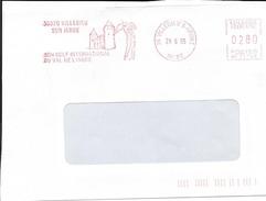 EMA - 1995 - VILLEDIEU SUR INDRE - VILLEDIEU SUR INDRE SON GOLF INTERNATIONAL DU VAL DE L'INDRE - Illustree - NE 76765 - Marcofilia (sobres)