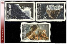 Liechtenstein 1034/36**   Mineraux II  MNH - Faciale: 4.90 FS - Liechtenstein