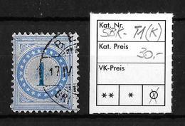 NACHPORTOMARKEN → SBK-1 Type 1 (kopfstehend) - Portomarken