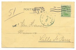 Sterstempel/cachet étoile   * St.Pieters.Lille  *  6 II 19 (blauwgroene Stempel)  R ! - 1915-1920 Albert I