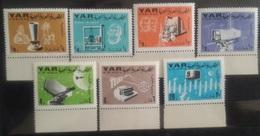 V25 - Yemen Arab Republic 1966 7 Diff Stamps MNH - Telecommunications - Yemen