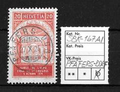 1924 50 JAHRE WELTPOSTVEREIN → SBK-167AI, PFÄFERS-DORF 27.X.24 - Gebraucht