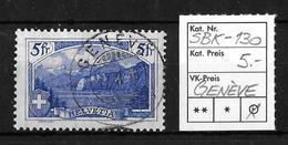 1914-1931 GEBIRGSLANDSCHAFTEN → SBK-130, GENÈVE 17.II.16 - Gebraucht