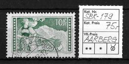 1914-1931 GEBIRGSLANDSCHAFTEN → SBK-179, AARBERG ......1938 - Gebraucht