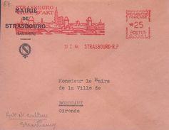 """Lettre De Strasbourg-R.P. 3I I 64 EMA Rouge """" Strasbourg Ville D'Art... """" - Poststempel (Briefe)"""