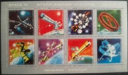 V25 - Yemen Arab Republic 1970 Mi. 1174/1180 Complete Set 7v. In A FULL SHEET MNH - SPACE 70 Interplanetary Stations - Yemen