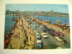 Istanbul  GALATA   BRIDGE    AUTO  CAR    Turkiye Turkey  TURCHIA   NON  VIAGGIATA  COME DA FOTO - Turchia