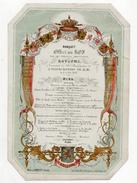 BELGIQUE - Banquet Offert Au ROY Par Les Conseils Provinciaux 21 Juillet 1860 - Menus