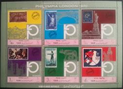 V25 - Yemen Arab Republic 1970 Mi. 1209-1214 Complete Set 6v. In A FULL SHEET MNH - PHILYMPIA LONDON Phylatelic Expo - Yemen
