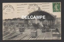 DD / TRANSPORTS / CHEMINS DE FER / TRAINS EN GARE DE DIJON / LOCOMOTIVE / CIRCULÉE EN 1916 - Stations With Trains