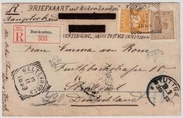 1899, Registered Postcard ! , #7931 - Niederländisch-Indien
