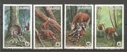 Serie 1984 Nrs 1253/56 ** - OKAPI - OKAPIA JOHNSTONI - COTE 13,00  EURO - WWF - A. BUZIN - Zaïre