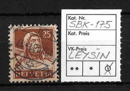 1914-1933 TELLBRUSTBILD → SBK-175, LEYSIN 15.XII.31 - Gebraucht