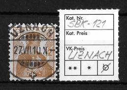 1907 HELVETIA MIT BRUSTBILD → SBK-121, UZNACH 27.VII.10 - Gebraucht