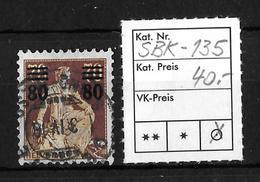 1915 - 1930 AUFBRAUCHSAUSGABEN → SBK-135 - Gebraucht