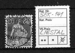 1908-1940 HELVETIA MIT SCHWERT → SBK-141, LIESTAL 2.VIII.19 - Gebraucht