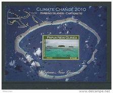 2010 Papua New Guinea  - Climate Change Sinking Island Sheet, Carteret Atoll, Île Qui Coule Scott 1448 MNH
