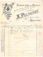 3 Factures A.Pelsener Manufacture De Meubles Rue De Flandre Bruxelles En 1905 PR4493 - 1900 – 1949