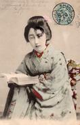 JAPON TYPE DE JAPONNAISE COSTUME CARTE PRECURSEUR POSTEE A SHANG-HAI CHINE - Altri