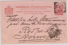 1897, Ned. India To Norge!  , #7938 - Norwegen