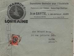LA 110 - ALGERIE Lettre Commerciale Pour La France - Lettres & Documents